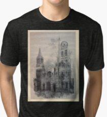 Auguste Lepère Façade of Rouen Cathedral by Auguste Lepère Tri-blend T-Shirt
