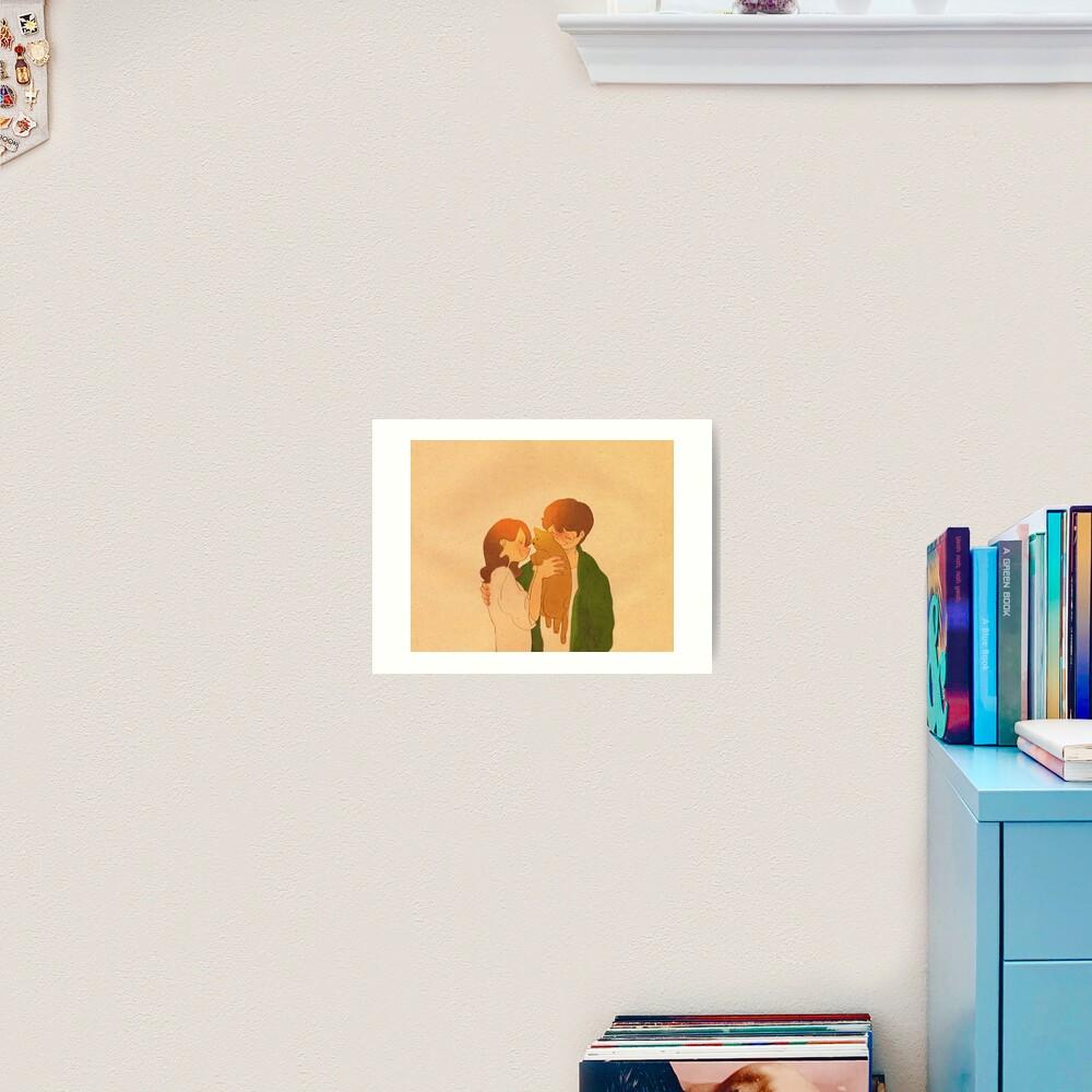 Lovely cat, Garfield Art Print
