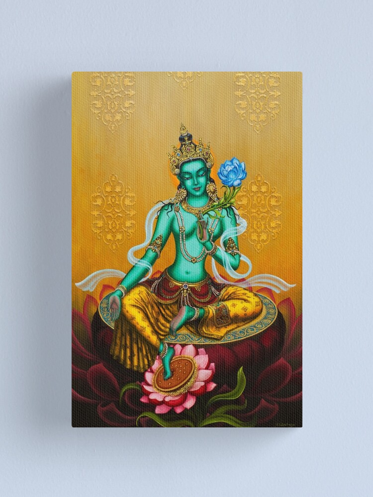 Alternate view of Green Tara Canvas Print