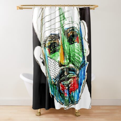 BAANTAL / Hominis / Faces #9 Shower Curtain