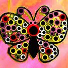 Hippy Dippy Psychedelic Butterfly by Deborah Lazarus