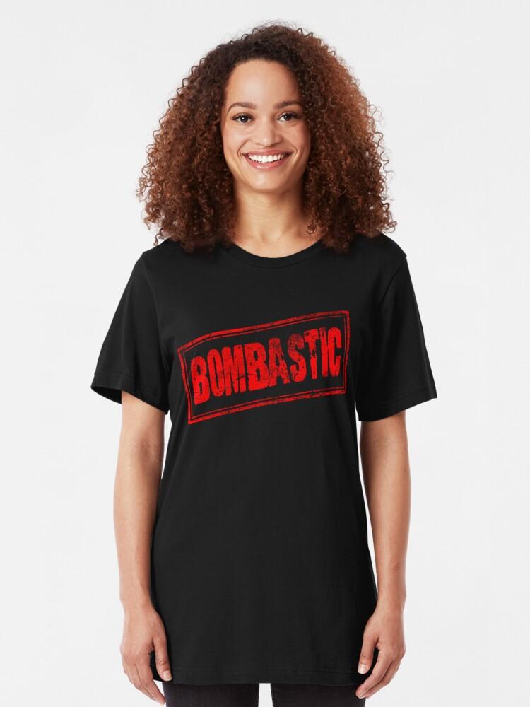 Alternate view of Bombastic (Vintage Retro Stamp) Slim Fit T-Shirt