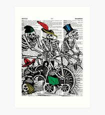 Calavera Cyclists Art Print