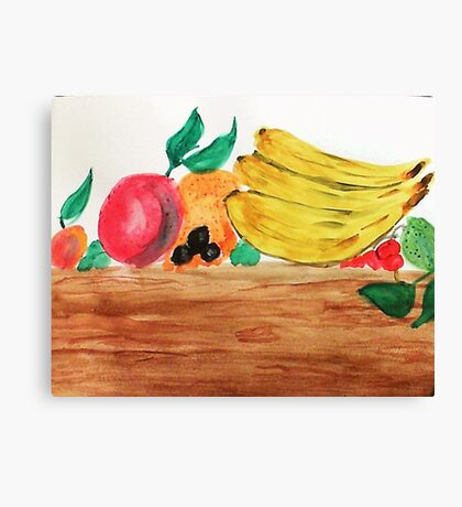 Table of Fruit, watercolor Canvas Print