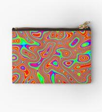 Abstract random colors #3 Zipper Pouch