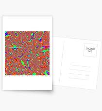 Abstract random colors #3 Postcards
