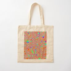Abstract random colors #3 Cotton Tote Bag
