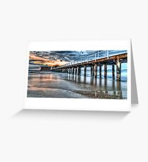 Queenscliff Pier At Dawn Greeting Card