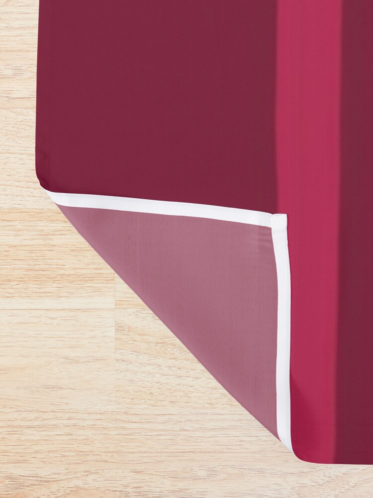 Alternate view of Shades of Dark Red Stripes Shower Curtain