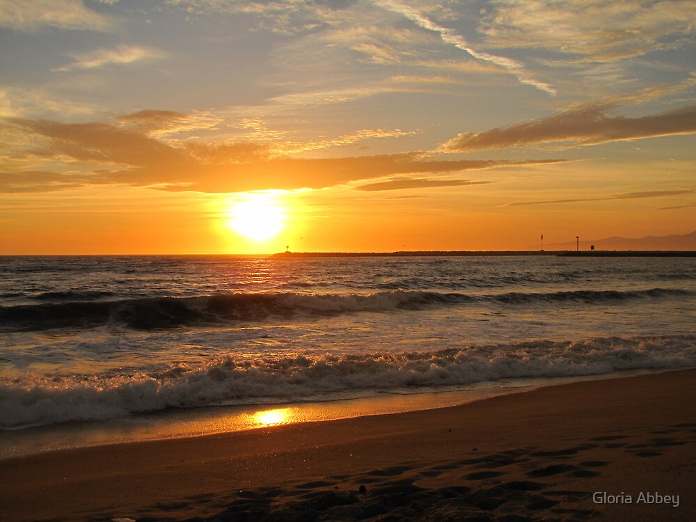 Sunset - Playa del Rey by Gloria Abbey