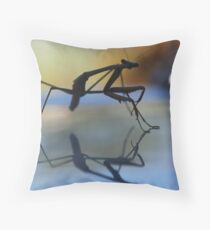 The Dance of a Praying Mantas Throw Pillow