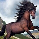 Rocky Mountain Stallion  by cybercat