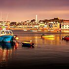 MOORED ON ST MARY'S  by Peter Sutton