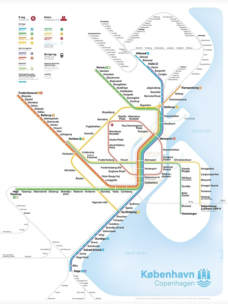 New rapid transit map of Copenhagen (September 29, 2019) by ktorbjorn