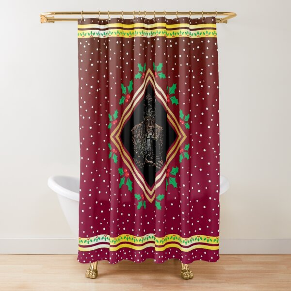 Opening the Box - Red Fresco Shower Curtain