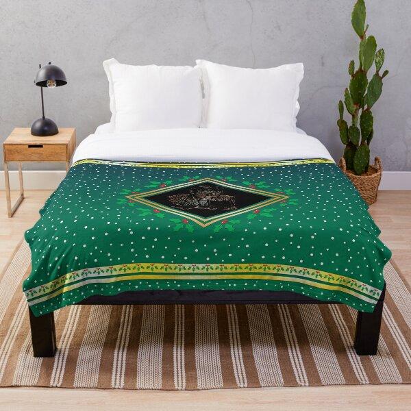 Opening the Box - Green Fresco Throw Blanket