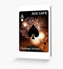 ACE CAFE - challenge winner banner Greeting Card