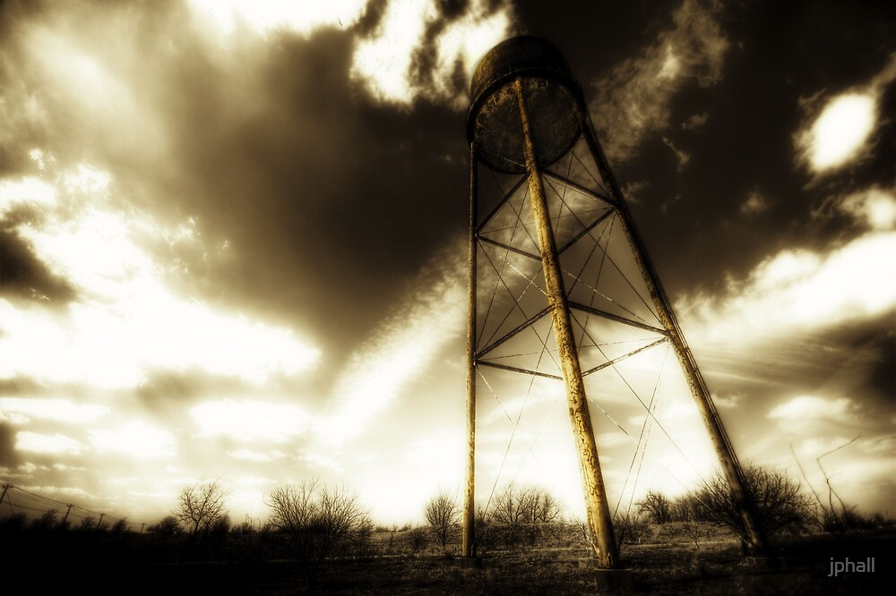 Water Tower Justin Texas by jphall