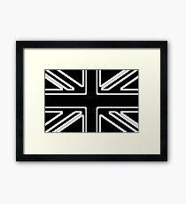Black & White Union Flag Framed Print