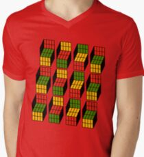 Geek's Cubes Mens V-Neck T-Shirt