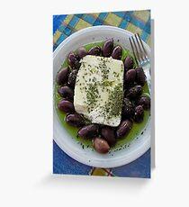 Gourmet Travels - Greece Greeting Card