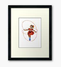 Skipping Girl (Minus Vinegar) Framed Print