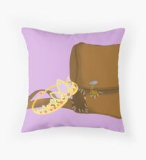 Satchel and Crown Throw Pillow