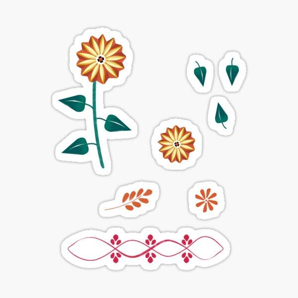 Sonnenblume und Dekoration Sticker
