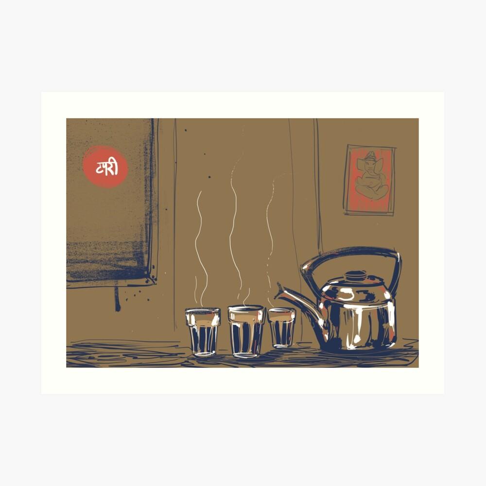 Indian Tea-stall Art Print