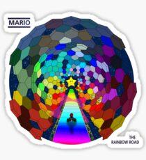 The rainbow road Sticker