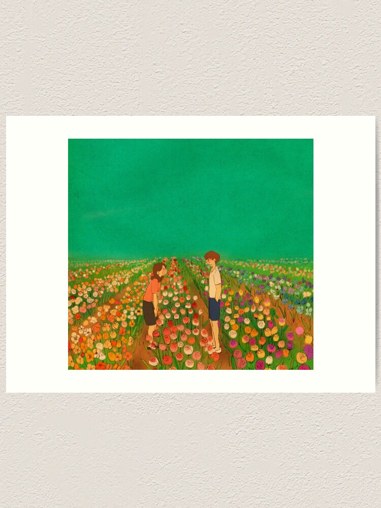 Alternate view of You are more beautiful than flowers. Art Print