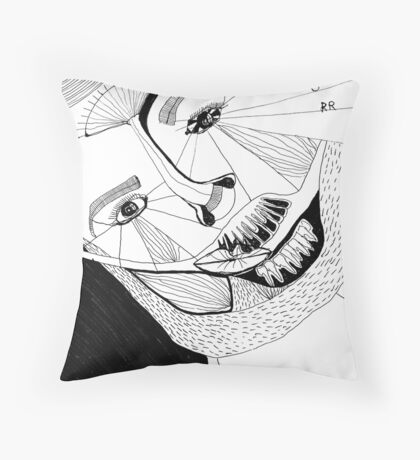 BAANTAL / Hominis ! Faces #12 Throw Pillow