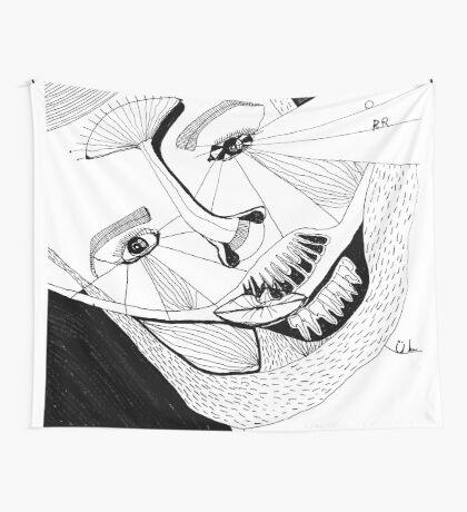 BAANTAL / Hominis ! Faces #12 Wall Tapestry
