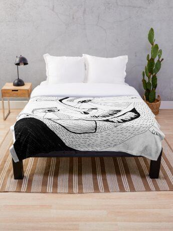 BAANTAL / Hominis ! Faces #12 Throw Blanket