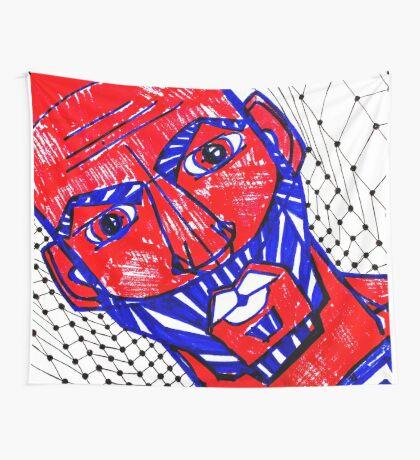 BAANTAL / Hominis / Faces #13 Wall Tapestry