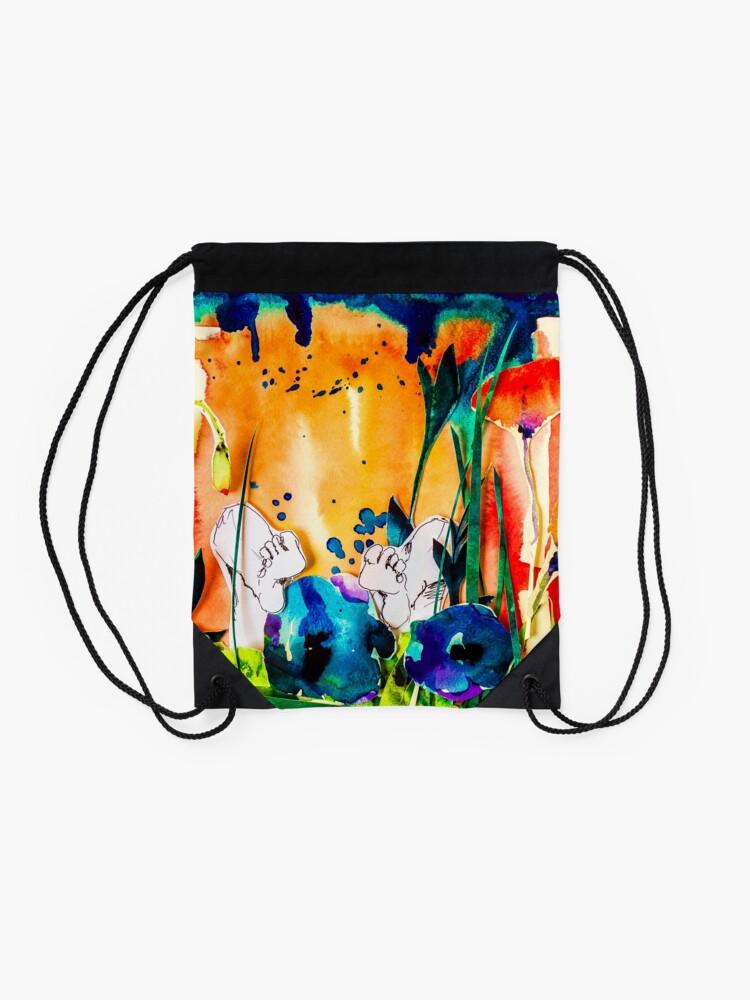 Alternate view of BAANTAL / Pollinate / Evolution #9 Drawstring Bag