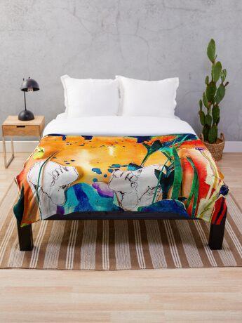 BAANTAL / Pollinate / Evolution #9 Throw Blanket