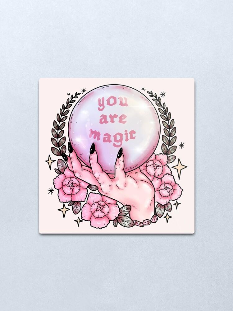 Alternate view of You Are Magic *pink* Metal Print