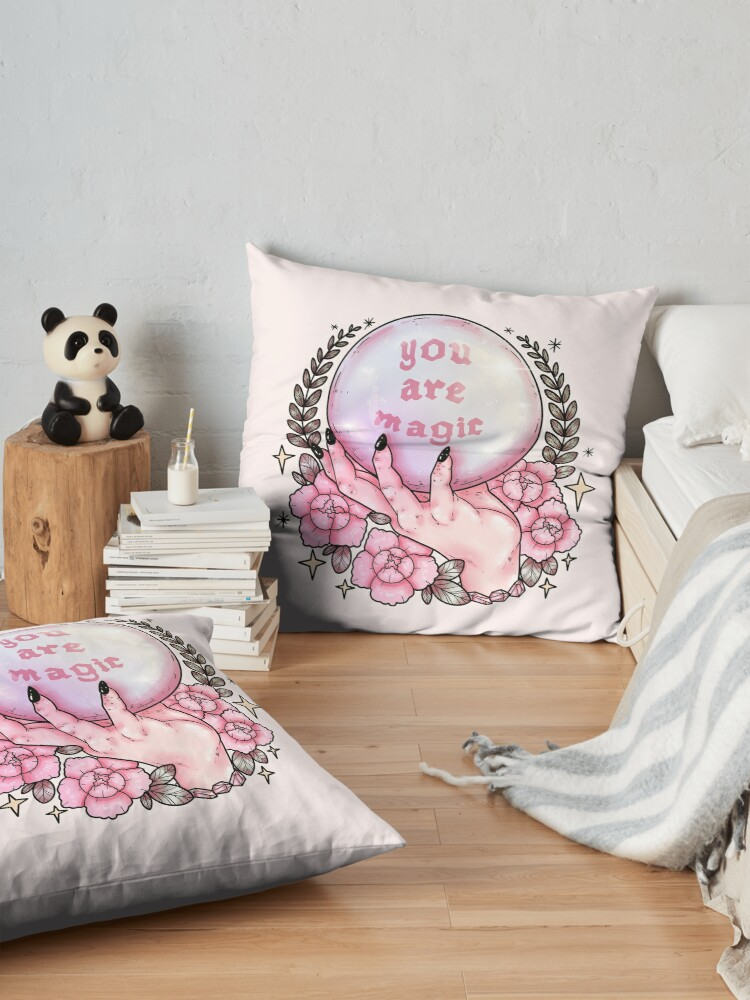 Alternate view of You Are Magic *pink* Floor Pillow