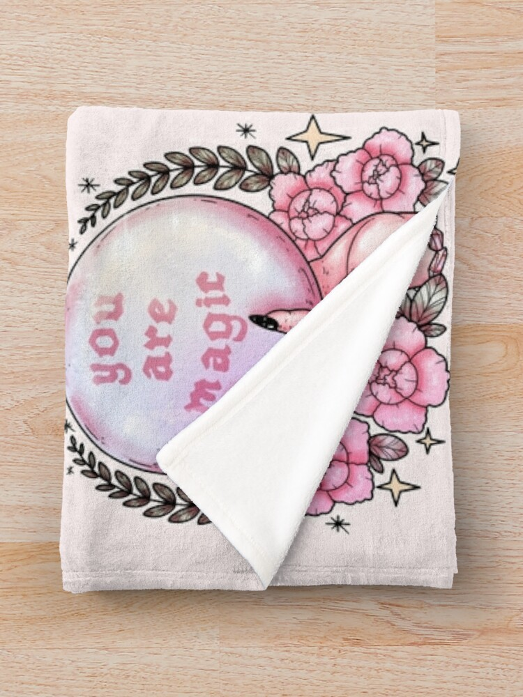 Alternate view of You Are Magic *pink* Throw Blanket
