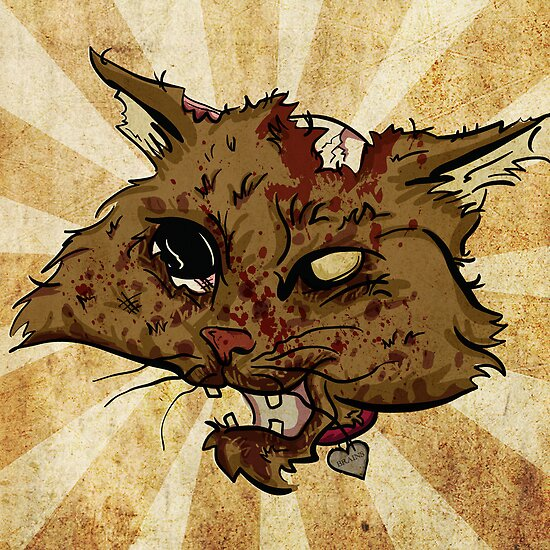 Zombie Cat by wesleykhall