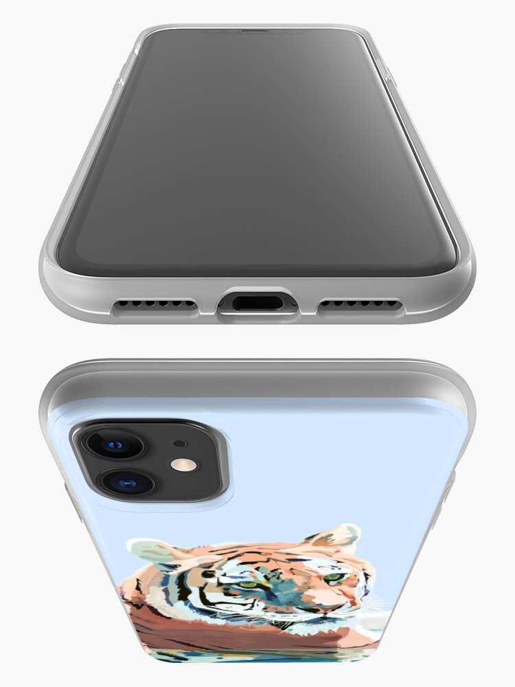 Alternate view of Tiger No.2 Blue iPhone Case & Cover