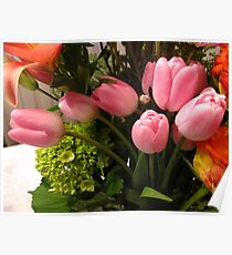 Swanning Tulips Poster