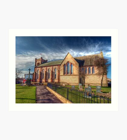 St Peter's Church Fleetwood - HDR Art Print