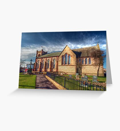 St Peter's Church Fleetwood - HDR Greeting Card