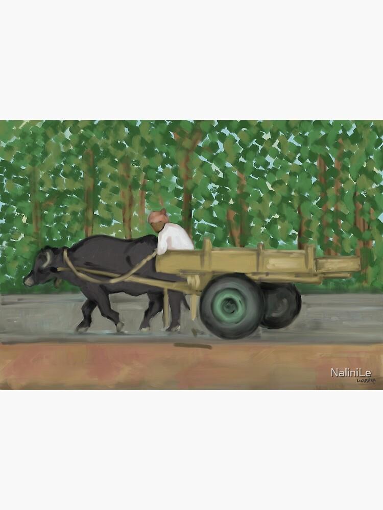 Man driving his cart painting - India by NaliniLe