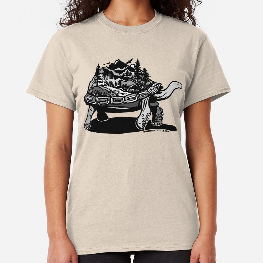 World Tortoise Digital Linocut Classic T-Shirt