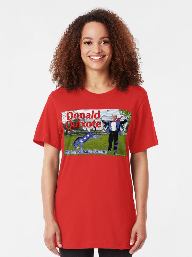 Alternate view of Donald Quixote: The Impeachable Dream Slim Fit T-Shirt