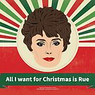 Golden Girls Rue McClanahan Blanche Christmas Card by gregs-celeb-art