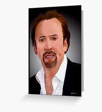 Nicolas Cage Greeting Card